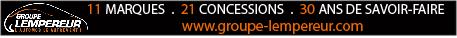 Petite bannière « Groupe Lempereur » sous le titre